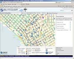 Seattle Map by Sdot Rolls Out New Seattle Parking Map