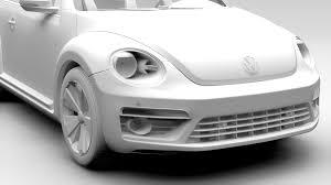 volkswagen beetle white vw beetle 2017 by creator 3d 3docean