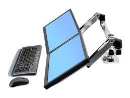 Tablet Desk Mount by Ergotron Lx Dual Side By Side Desk Mount Lcd Arm