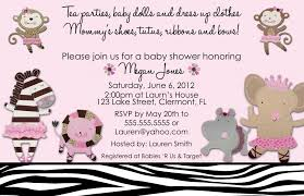 baby shower lunch invitation wording free monkey baby shower invitations templates ideas all