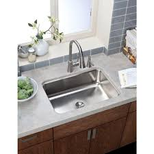 Elkay Kitchen Faucet Reviews Elkay Nlx3322104 Neptune Drop In 33x22x10 4 Hole Double Bowl