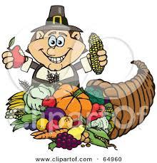 royalty free rf clipart illustration of a thanksgiving pilgrim