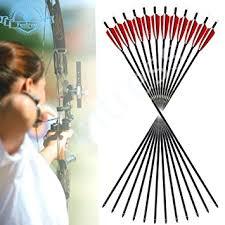 funtress 12 pcs 32 fibra de carbono 3 4 flechas de plumas de