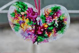 kids valentine u0027s day craft wax paper u0026 crayon hearts with
