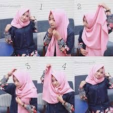 tutorial jilbab remaja yang simple tutorial hijab 4 langkah praktis cara memakai jilbab simple yang