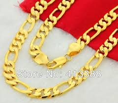 necklace gold man images Gk4 24k gold man jewelry necklace cool three interval one 24k gold jpg