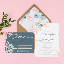 berry blush wedding stationery sample pack by eliza may prints