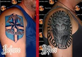 cover up football team cover with medusa picture