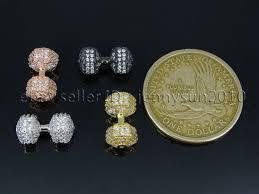 clear gemstones clear zircon gemstones pave dumbbell bracelet connector charm