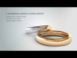 6 3d wedding rings animations after effects template youtube