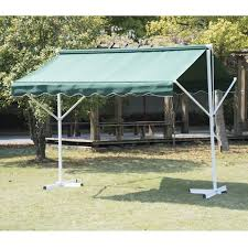 Awning Sun Outsunny Double Sided Patio Manual Awning Sun Canopy Shade