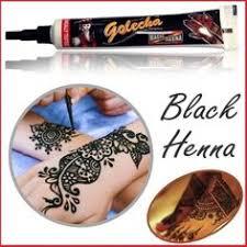 golecha black henna tubes for temporary tattoo body art and henna
