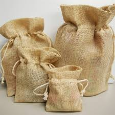 burlap gift bags gift bags with cotton drawstrings 6 pcs 6 x 9