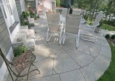 Backyard Stepping Stones by Nice Concrete Patio Ideas For Small Backyards Expand Slab Patio
