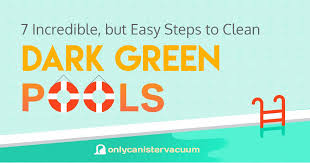 how to clean how to clean dark green pool u2013 7 incredible but simple steps