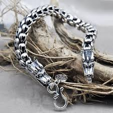 dragon bracelet silver images Thai silver jewelry 925 sterling silver dragon bracelet male jpg