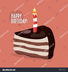 happy birthday cake typography peace chocolate stock vector