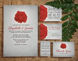 Red And Black Wedding Invitations 3935 Best Floral Wedding Invitations Images On Pinterest Floral