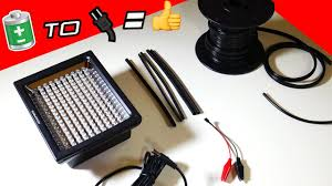 modding a battery powered led light to run on ac power
