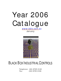 black box industrial controls catalogue 2005