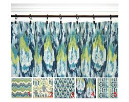pair peacock curtain panels kiwi green navy blue curtains ikat