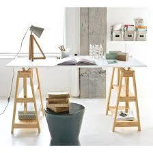 bureau avec treteau bureau avec treteau bureau pin massif bureau avec treteau but