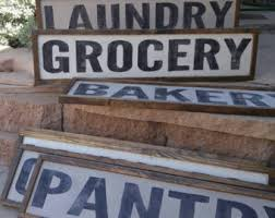 decor signs custom wood sign bakery market laundry pantry grocery made to