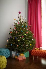pom pom tree alternative christmas tree decoration