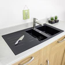 Sinks Granite Countertop White Paneled Cabinets Kitchen Blanco - White composite kitchen sinks