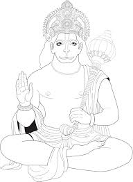 j coloring pages hanuman india u0026 bollywood coloring pages for adults justcolor