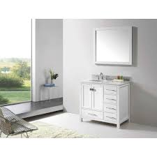Virtu USA Caroline Avenue Inch Single Bathroom Vanity Set With - Virtu usa caroline 36 inch single sink bathroom vanity set