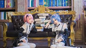 subaru and emilia cosplay ram and rem re zero best hottest cosplay photos compilation