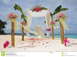 Wedding Arches Beach Wedding Arch And Set Up Royalty Free Stock Photography Image