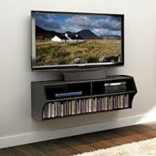 amazon black friday tv stand amazon com black altus wall mounted audio video console kitchen