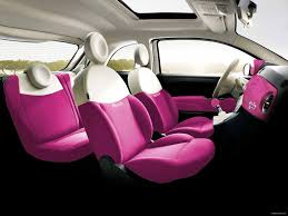 barbie cars fiat 500 barbie concept white pink seats in the car car interior