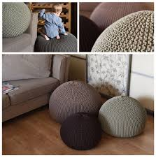 unfilled knitting bean bag cover pouf home decor
