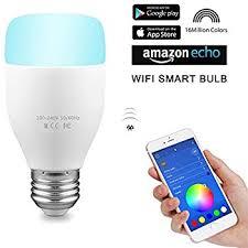 alexa controlled light bulbs aozbz wifi smart led light bulb with alexa control 6w e27 rgb