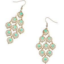 accessorize earrings accessorize enamel leaf chandelier earrings polyvore