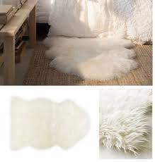 faux fur area rug ikea carpets rugs and floors decoration