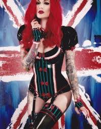 cervena fox tattooed tattoo gothic model redhead red hair