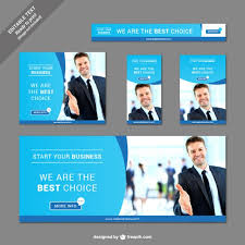 collection of business banners vector free download