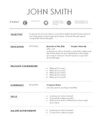 sample resume for intern position