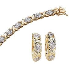 gold plated tennis bracelet images 1 4 carat t w diamond 14kt gold plated tennis bracelet 7 25 jpeg