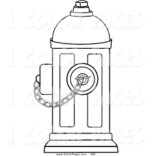 fire hydrant coloring page itgod me