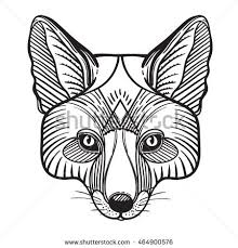 wolf face coloring page wolf head zentangle stock vector 587713253 shutterstock