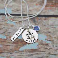personalized necklace bat mitzvah personalized necklace
