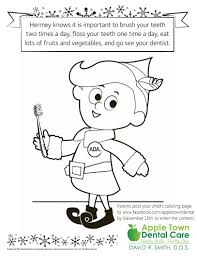 hermey elf coloring contest apple town dental care