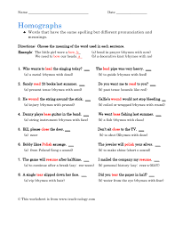 homographs worksheets 28 templates teaching worksheets
