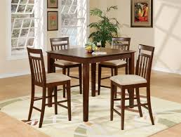 KitchenKitchen Table And Chairs Square Wooden Kitchen Table - Hyland counter height dining room table with 4 24 barstools