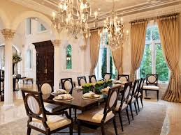 elegant dining room dining room an elegant dining room with chandeliers big long